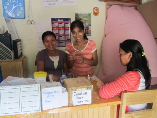 The Bugnay Staff Midwives doing regular prenatal check-ups for the women living in the remote mountains of Tinglayan.