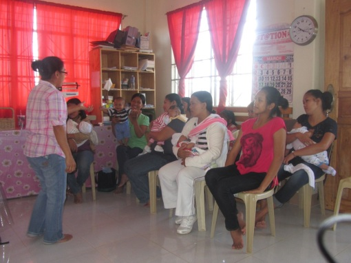 Our monthly Well-Baby seminars in which we train mothers on the keys to keeping their babies and themselves healthy.